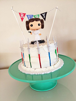 Pop Princess Leia Star Wars Birthday Cake