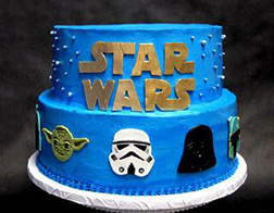 Faces of the Force: Star Wars Birthday Cake