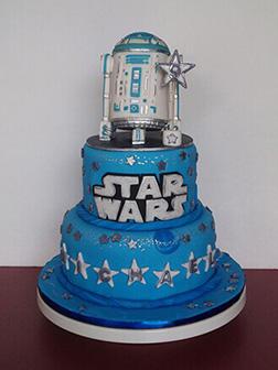 Tiered R2D2 Birthday Cake