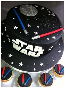 Lightsaber Duel Birthday Cake