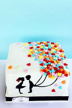 Sweet Surprise Balloons Cake