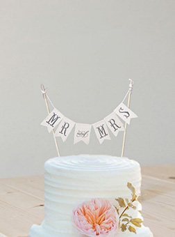 Mr. Mrs. Annoucement Cake