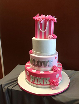 VS Pink Bridal Shower Cake