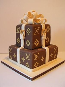 Louis Vuitton Stacked Box Cake