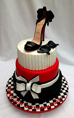 Dramatic Heel Bridal Shower Cake