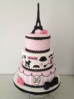 French Romance Bridal Shower Cake