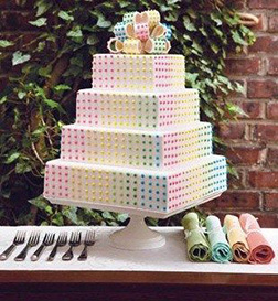 Candyland Stack Bridal Shower Cake