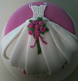 Dressed to Impress Bridal Shower Cake