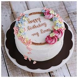 Classic Flower Birthday  Cake