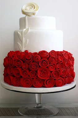 Bed of Roses  Cake