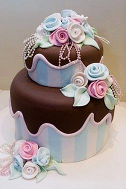 Pastel Roses Cake