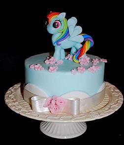 Rainbow Dash Pink Petals Cake