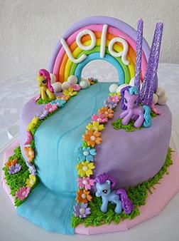MLP Rainbow Stream Cake