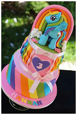 Rainbow Dash Colors of the Rainbow Cake