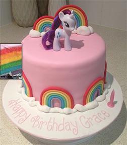Rarity Rainbow MLP Cake