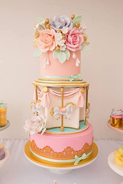 Pastel Pony Go Round Cake