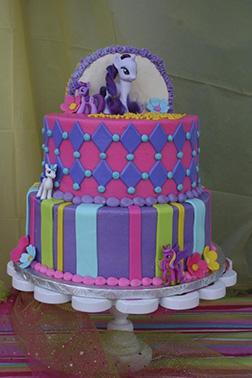Rarity's Boutique MLP Cake