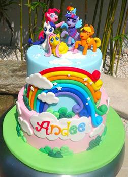 My Little Pony Rainbow Party Cake