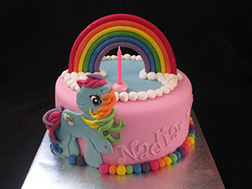 Rainbow Dash Soaring High Cake