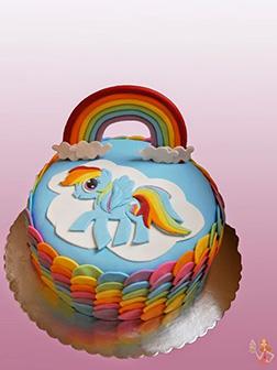 Rainbow Dash Rainbow Dancer Cake
