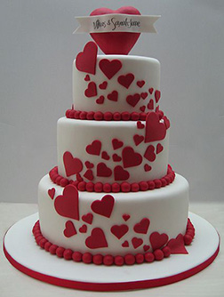 Heart Flow Wedding Cake