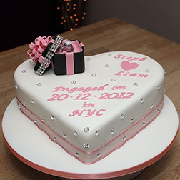 Ring Box Heart Commemoration Cake