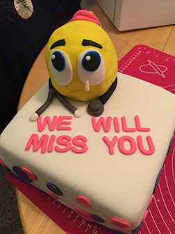 Lost Without You Farewell Cake