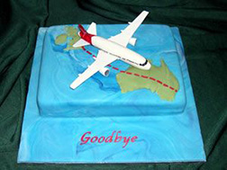 Safe Travels Farewell Cake