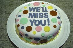 Polka-Dot Farewell Cake