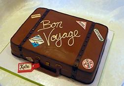 Bon Voyage Luggage Farewell Cake