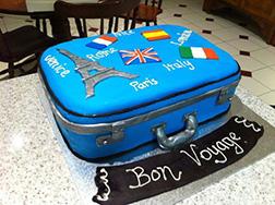 World Travel Farewell Cake