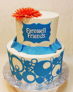 Tiered Abstract Farewell Cake