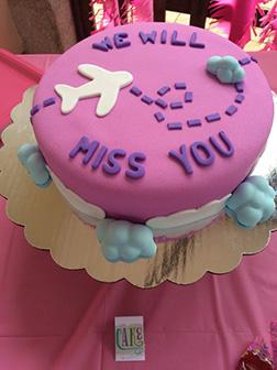 Silver Wings Farewell Cake
