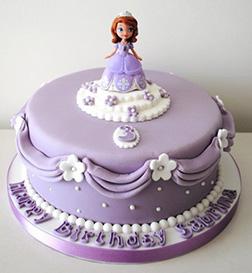 Pretty as a Princess Sophia Birthday Cake