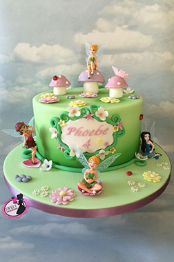 Tinkerbell Pastel Friends Birthday Cake