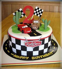 Mater and McQueen Desert Race Cake
