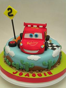 Lightning McQueen Spare Tire Cake