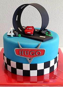 Disney Cars Loop Track Cake