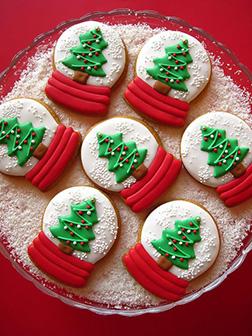 Snow Globe Christmas Tree Cookies