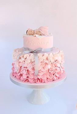 Baby Girl Ruffles Cake