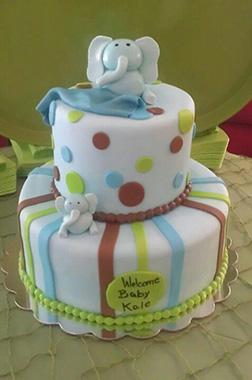 Baby Elephant Blanket Cake