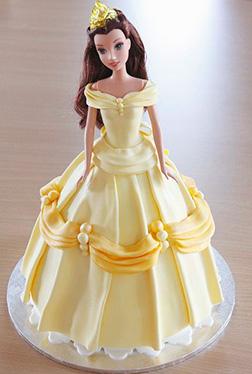 Disney's Belle Barbie Cake