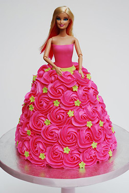 Rosette Queen Barbie Cake