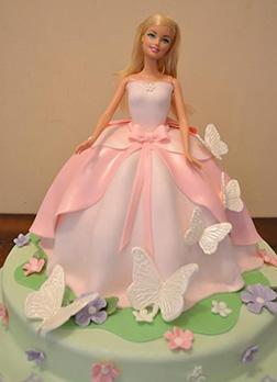 Butterfly Whisperer Barbie Cake