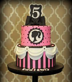 Barbie Silhouette  Logo Cake