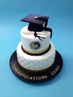 Classic Tiered Graduation Cake
