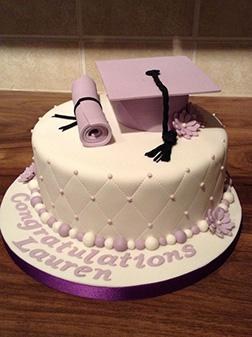 Soft Lavender Graduation Cake