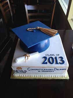 Minimalist Graduation Box Cake