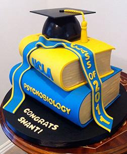 Textbook Stack Graduation Cake