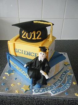 Walk the Line Graduation Cake